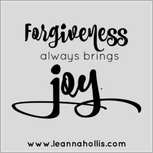 forgiveness brings joy