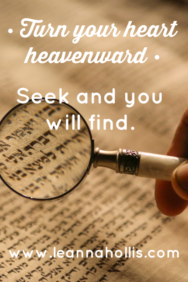 Seek and you will find