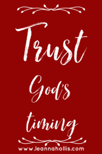 trust God's timing