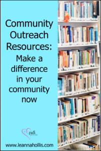 community outreach make a difference now