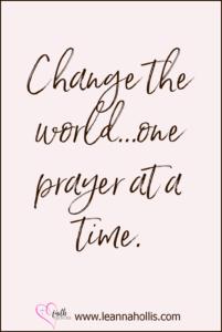 prayer resources change the world