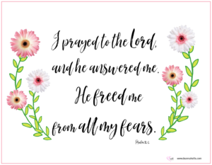 God freed me from all my fears